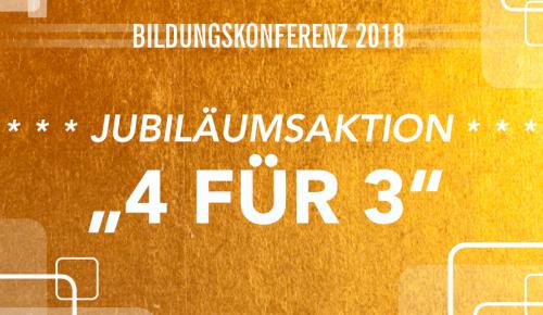 Jubiläumsaktion ZWH-Bildungskonferenz 2018